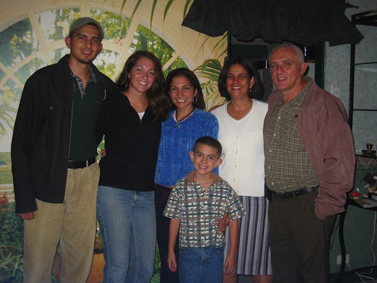 With my host family in Costa Rica