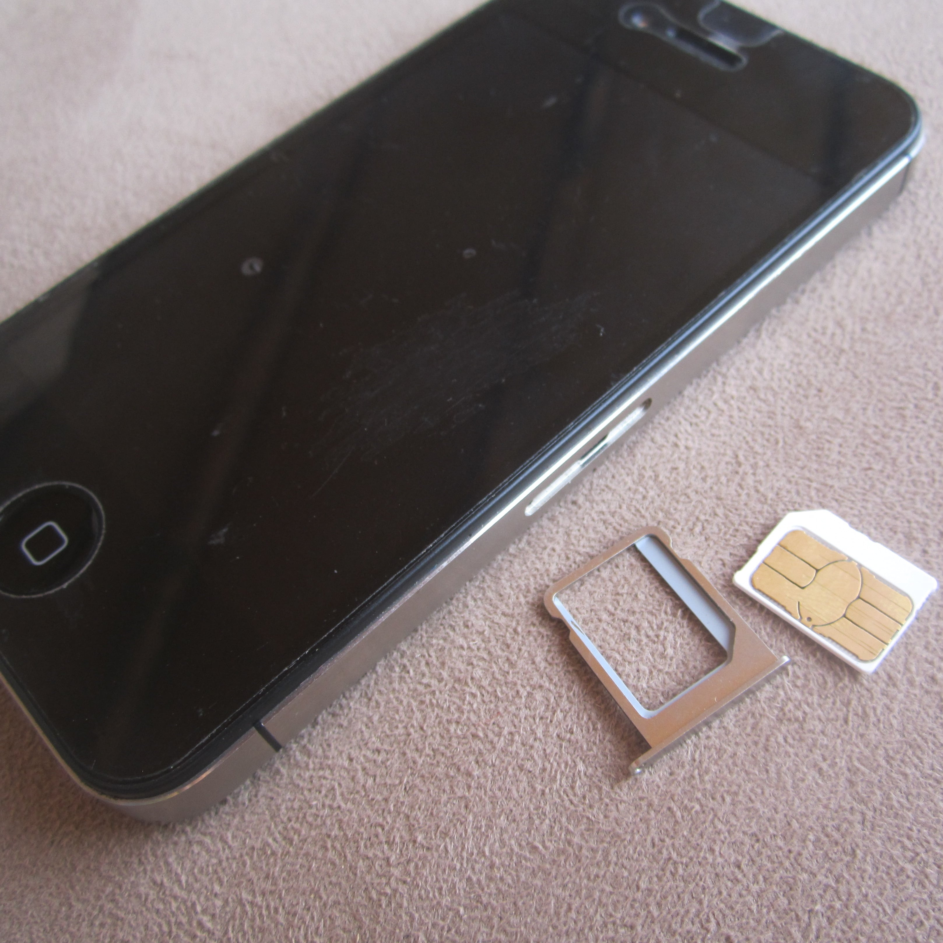 Iphone Sim Card Slot With Micro Sim Card