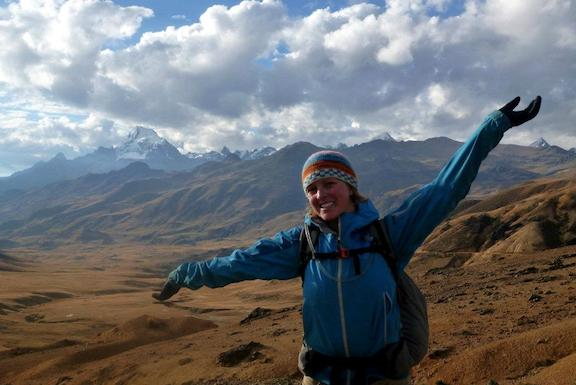 Sarah Field Hiking South America