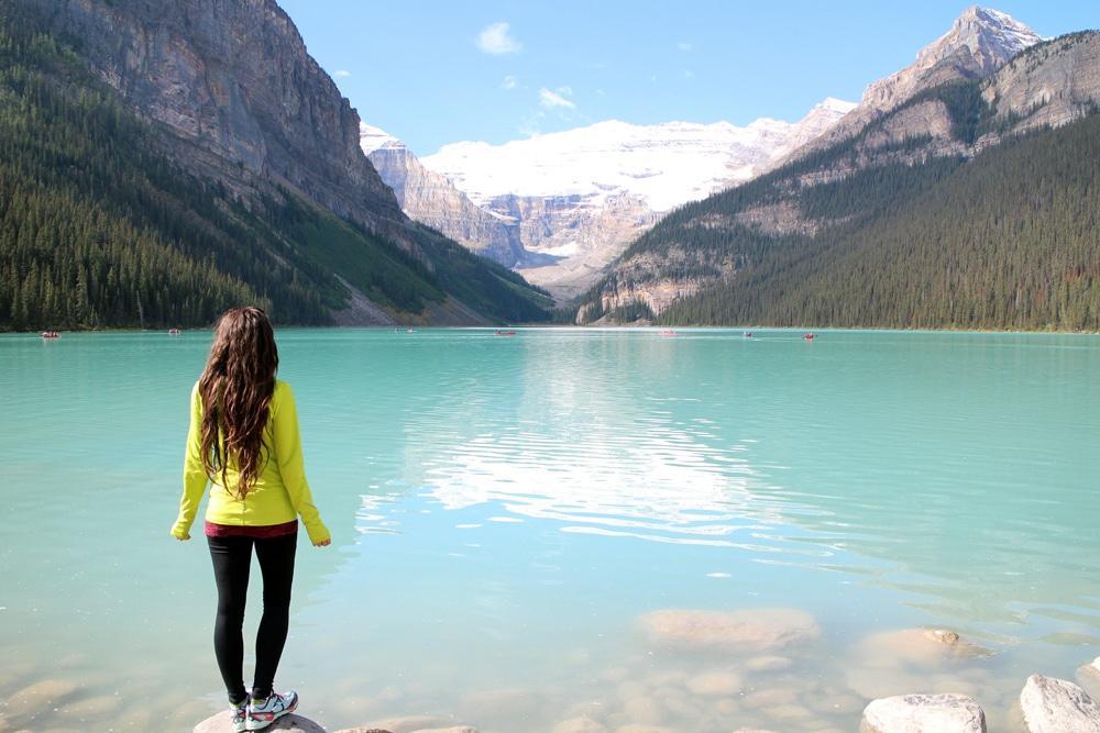 Jackie at Lake Louise