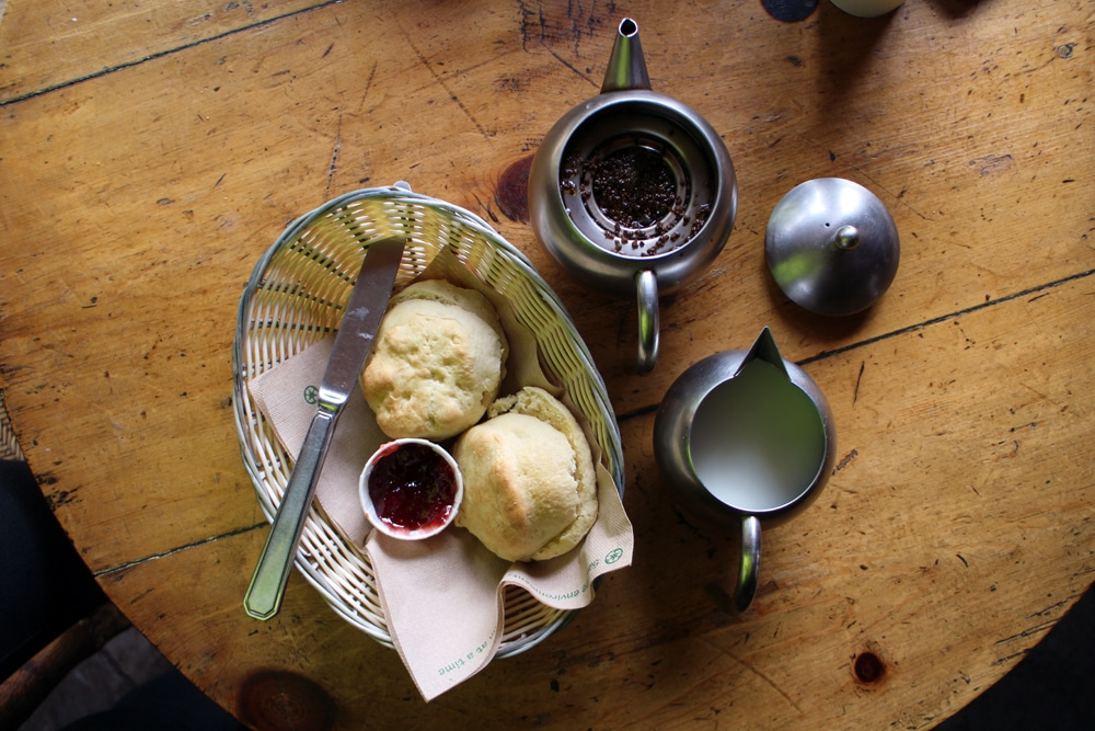 Tea with Jam and Bread