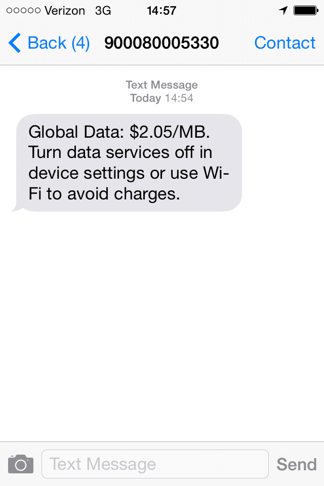 Roaming Charges Verizon