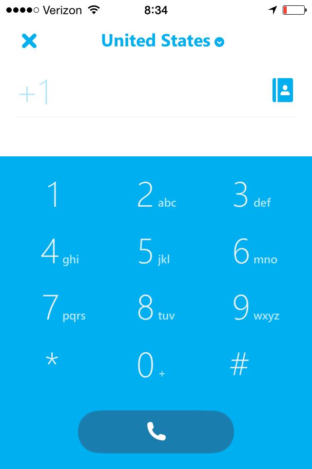 Call with Skype WiFi Overseas