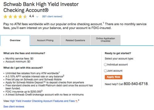 Set up a Charles Schwab Bank Account