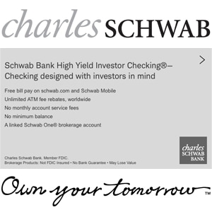 Charles Schwab Travel Checking