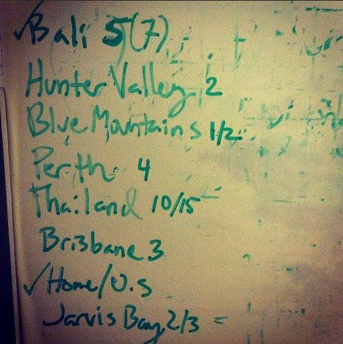 John's Bucket List