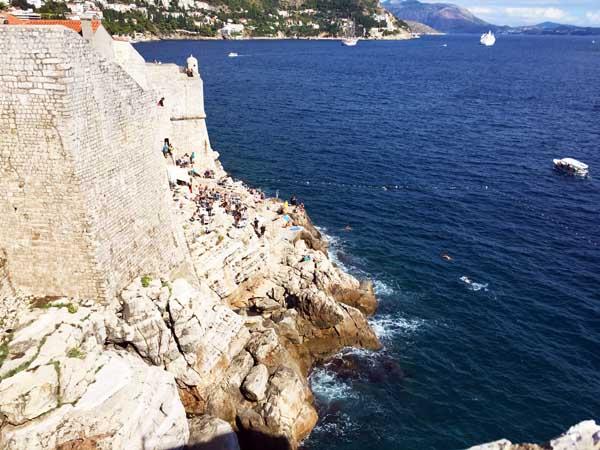 Cliff jumping Dubrovnik