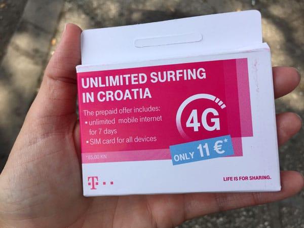 Croatian SIM card T-Mobile