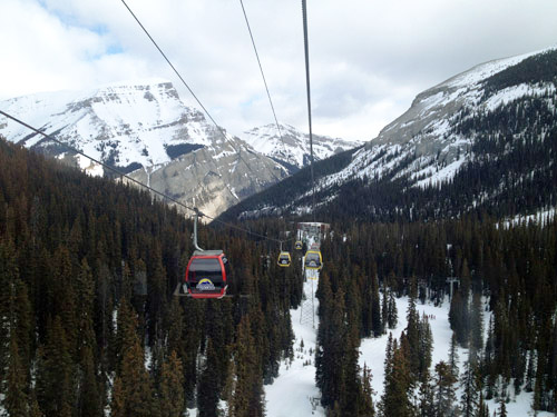 Gondola at Sunshine Village