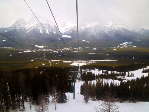 Lake Louise Gondola Winter