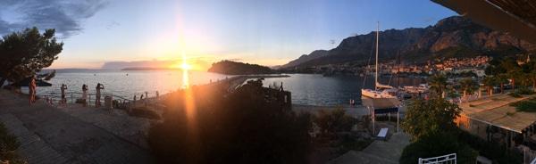 Makarska Harbor Sunset