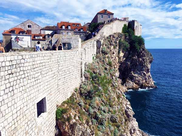 Dubrovnik ocean walls
