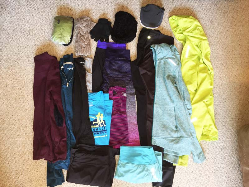 Active clothing to pack