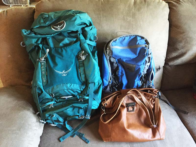 Backpack for a year