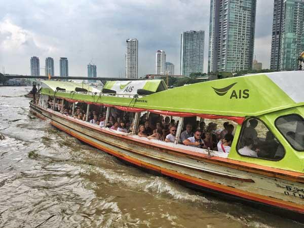 Bangkok Local Orange Boat