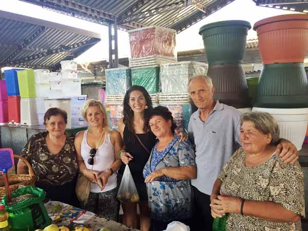 Locals in Nis Market