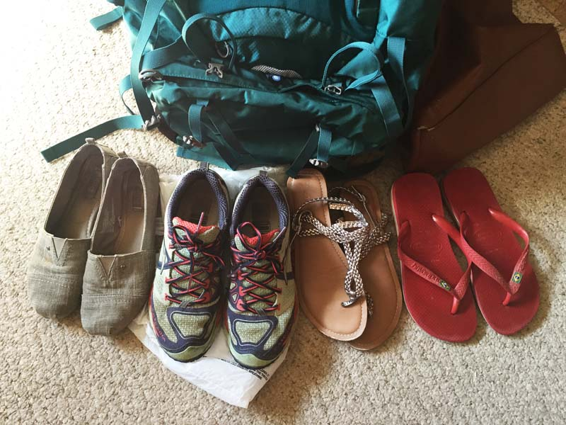 Shoes to pack for travel