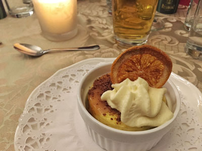 Dessert at Schonbrunn Palace