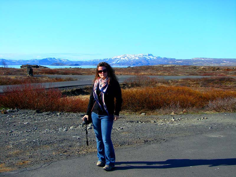 Stephanie in Iceland