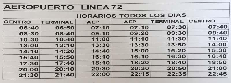Bariloche airport bus schedule