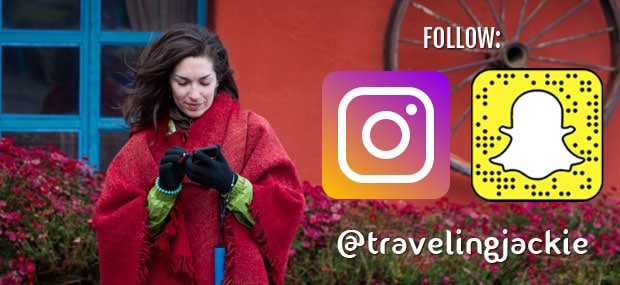 Add @travelingjackie on Instagram and Snapchat