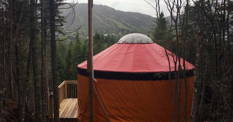 Sleep Under The Canadian Stars Yurt Glamping In Quebec