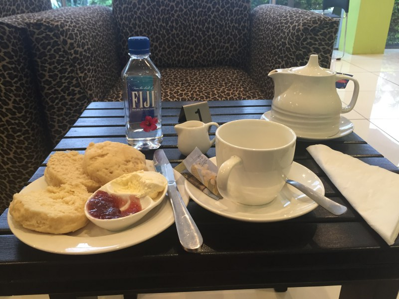 tea time at the essence of fiji rejuvenation center