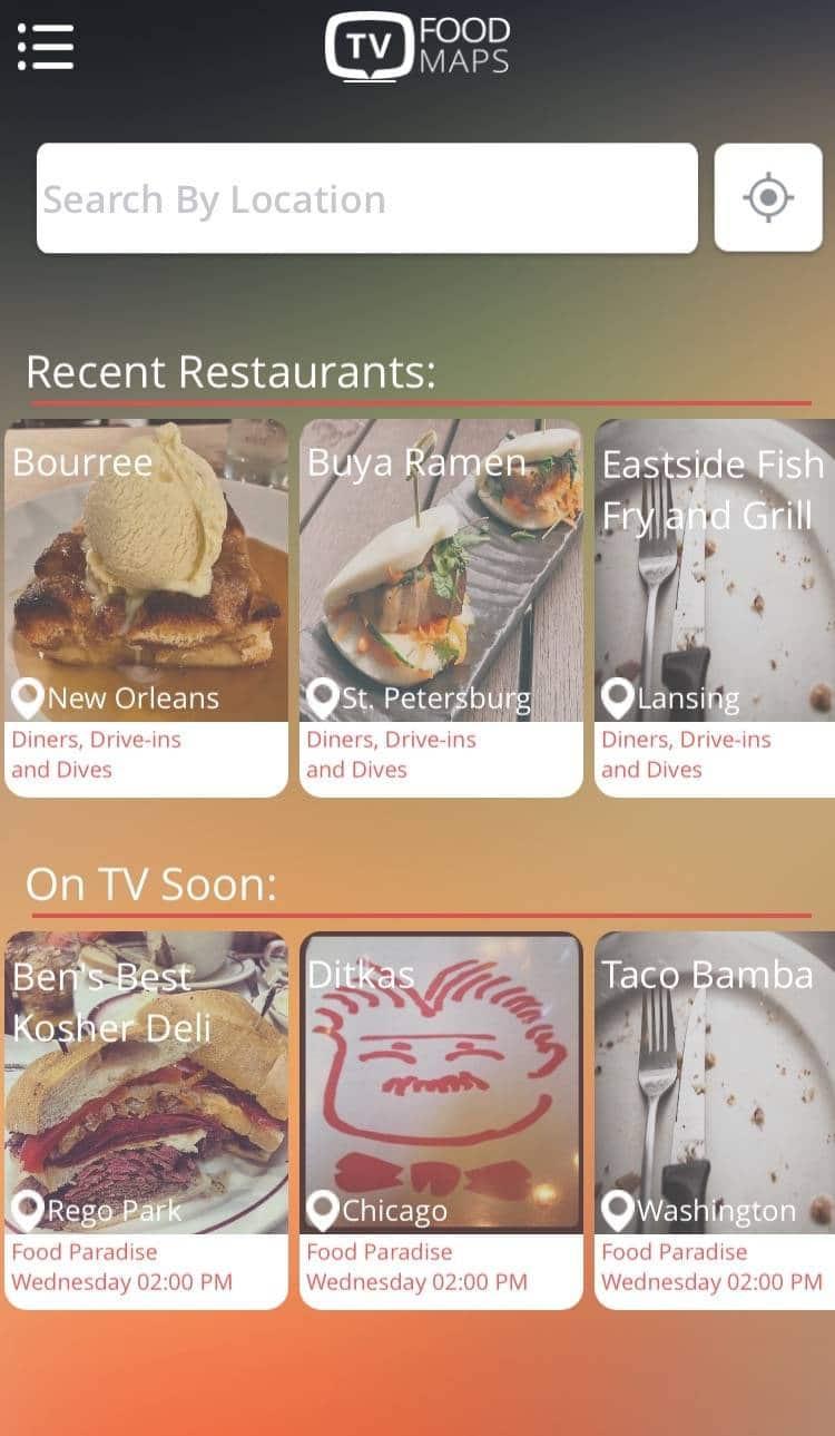 road trip apps tv food maps