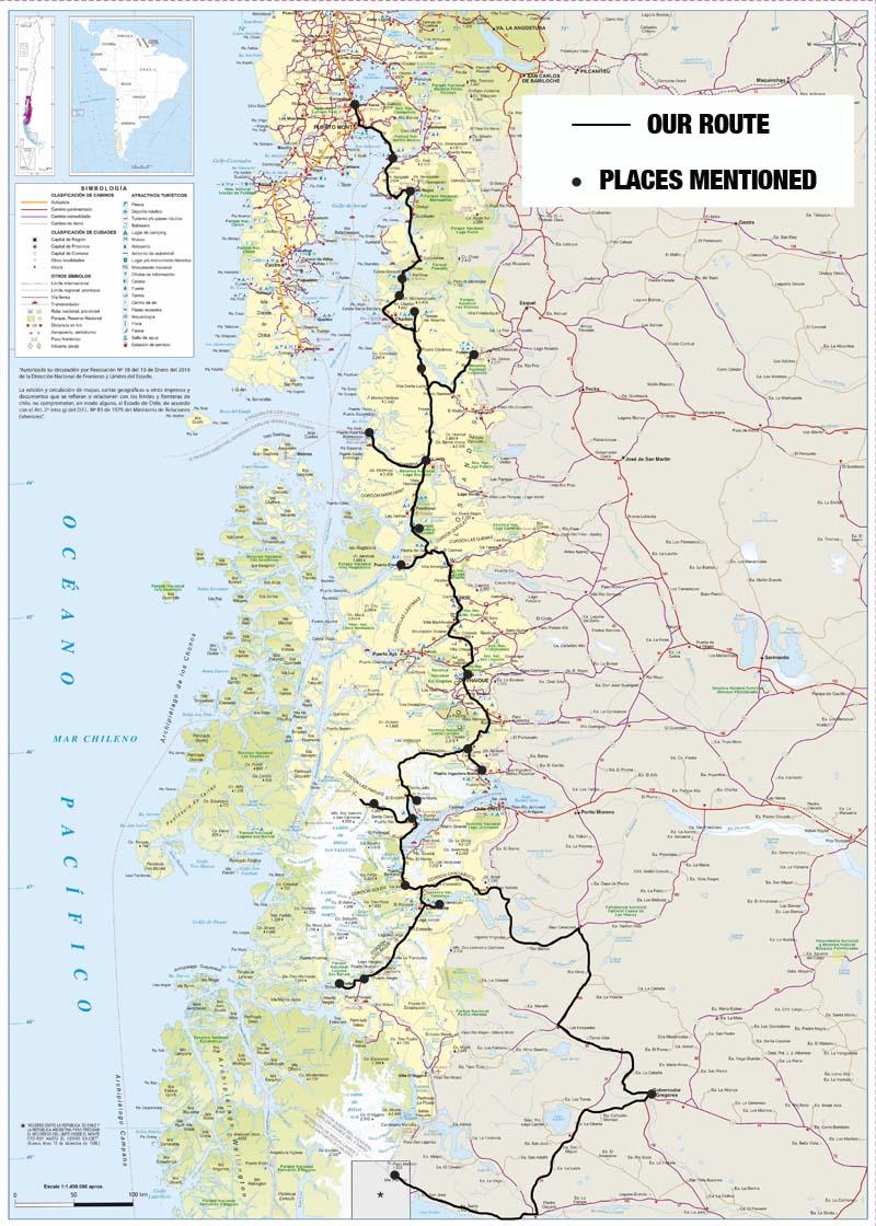 Map Carretera Austral