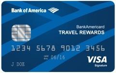 bank of america travel credit card