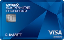 chase sapphire preferred travel credit card