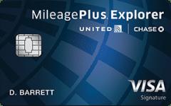united mileage plus travel credit card