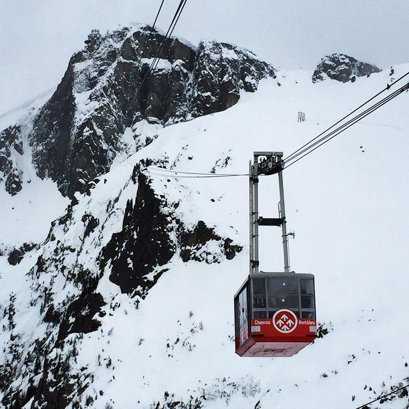 Cable Car in Chamonix, France