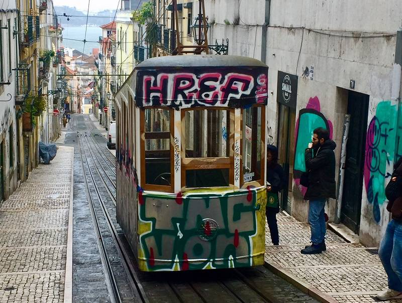 Funicular in Lisbon, Portugal