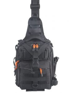 black flyfishing sling bag for travel