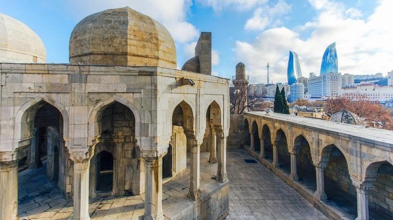 old city in baku azerbaijan
