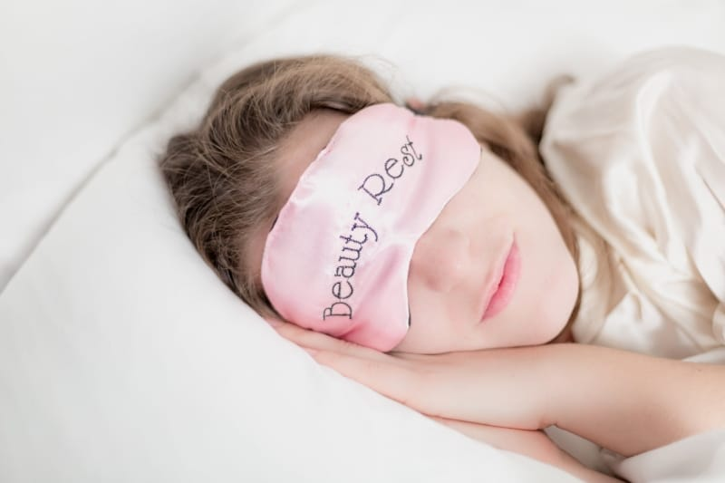 Woman wearing a Sleep Mask