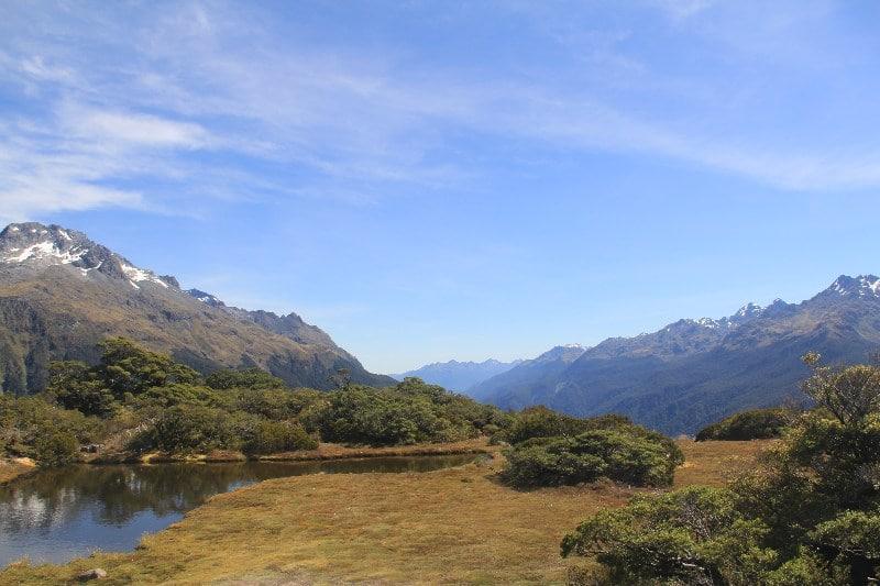 Day hiking Routeburn Track New Zealand