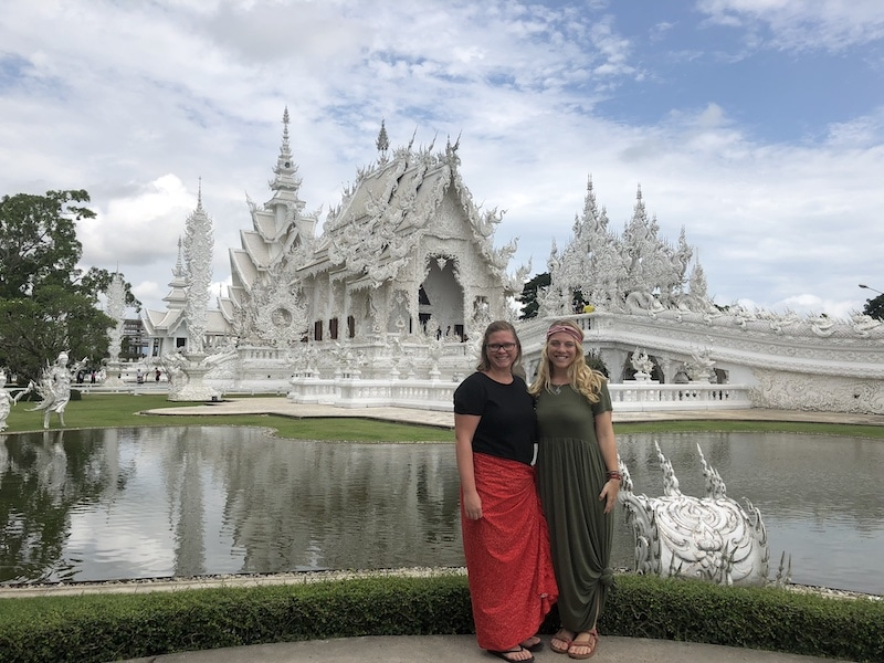 traveling with a friend in chiang rai, thailand