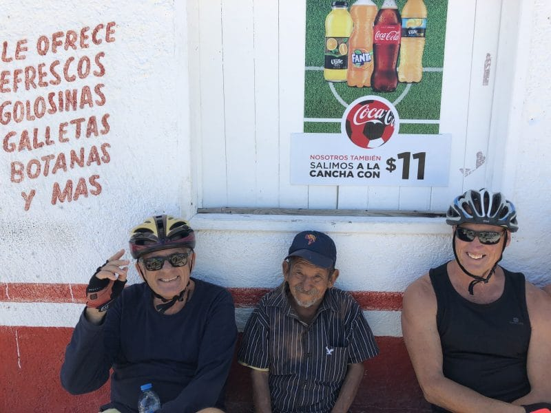stopping in small towns while cycling in Mexico