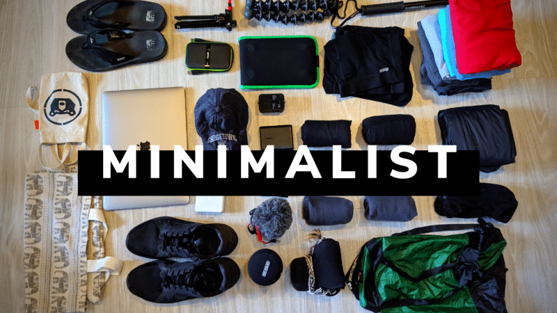 minimalist travel items on our men's carry on packing list
