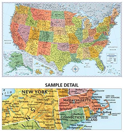 laminated map of USA