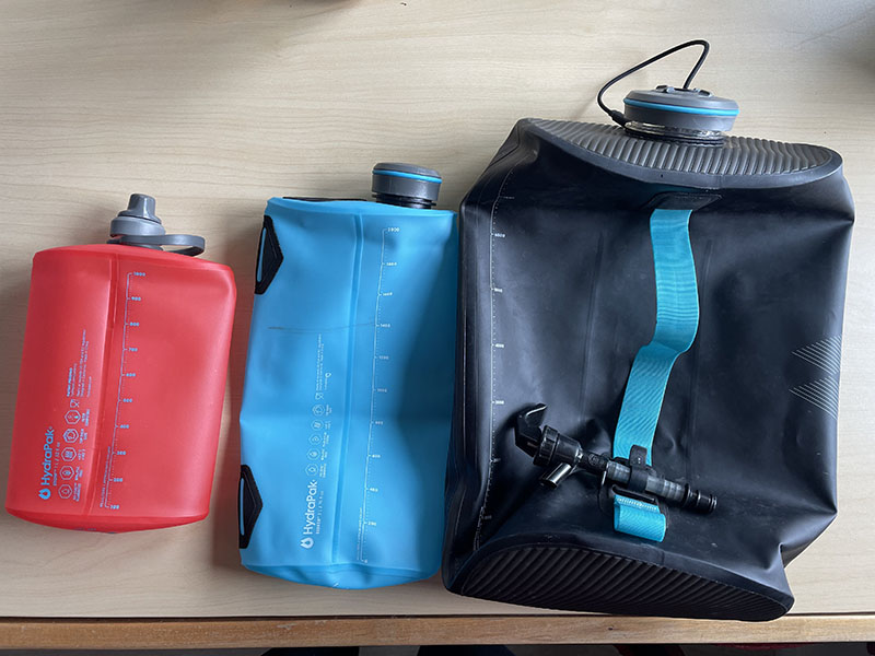 HydraPak reservoirs in three different sizes