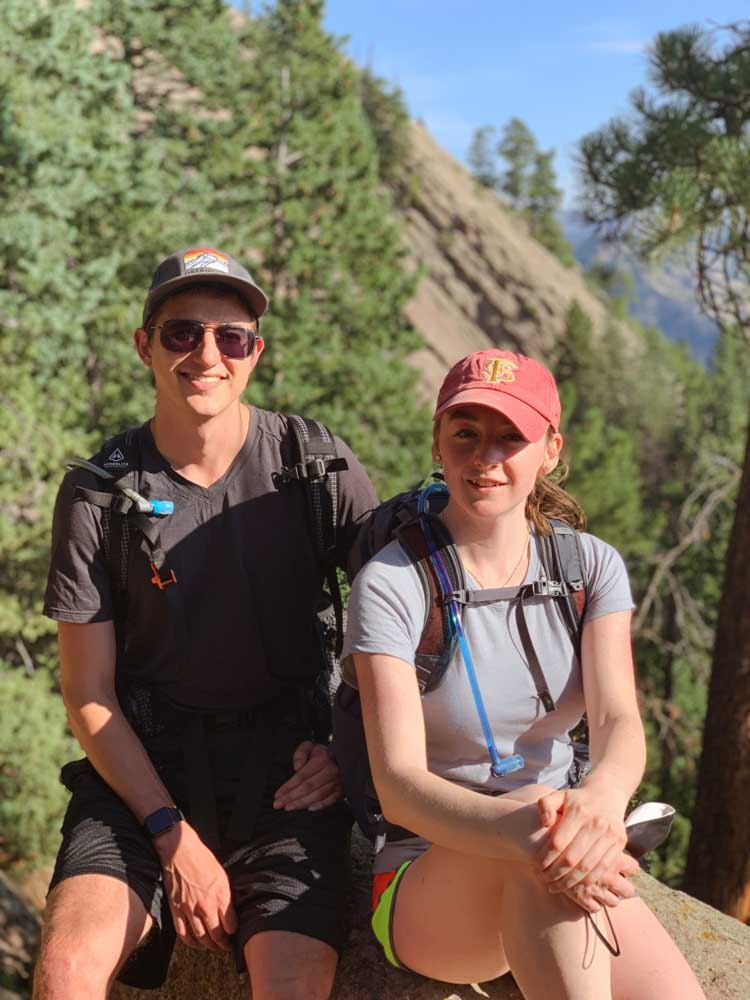 hiking as a couple is a fun and free date idea