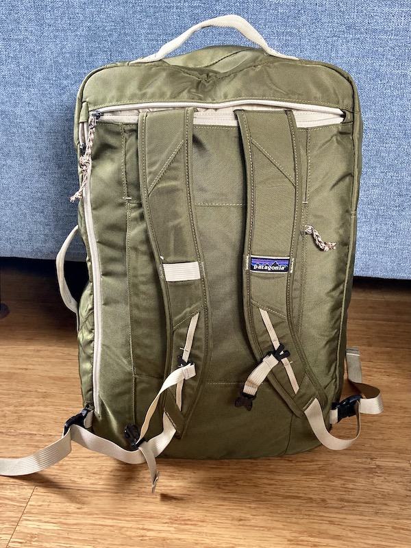 Easily convert the Patagonia MLC to a backpack with hidden straps. © Niki Gribi